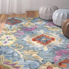 blue and yellow area rug hand hooked blue yellow area rug blue white and yellow area