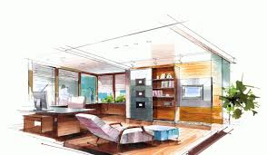 interior design sketches kitchen. Fashionable Ideas 6 Beautiful Interior Design Sketches Designer Kitchen B
