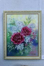 flower paintings handmade livemaster handmade painting on canvas peonies bloom