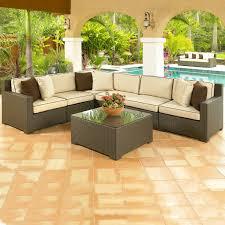 Malibu 8 Piece Wicker Sectional Sofa Set