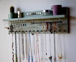 Wall Hanging Necklace Organizer 25 Best Diy Necklace Holder Ideas On  Pinterest Necklace Storage