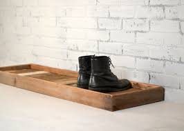 Decorative Boot Tray Boot Tray Made from Reclaimed Wood Shoe Storage Entryway 6
