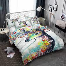 yi chu xin 3d bedding set king animal cartoon comforter blue duvet cover set with pillowcase bedclothes queen bedline bed duvet sets california king