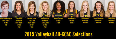 Eight Women's Volleyball Players Named to All-KCAC Teams, Blessington Coach  of the Year   Ottawa University Athletics