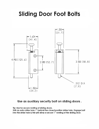 FPL Sliding Door Lock Security Foot Bolt in White - Quickly and ...