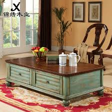 furniture grade wood. kam wood furniture mediterranean blue leather high-grade veneer coffee table old living room with grade r