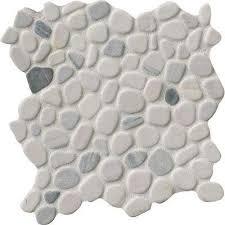 mosaic shower floor tile. Black/White Pebbles 11.42 In. X 10 Mm Marble Mesh Mosaic Shower Floor Tile