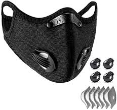 WISREMT <b>Cycling Face Mask</b>, Nylon Spandex <b>Activated</b> Carbon…