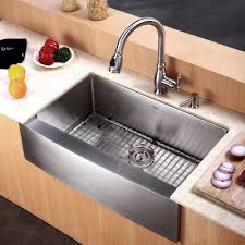 stainless steel kitchen sinks kraususa inch sink kraus farmhouse single bowl with noisedefend soundproofing black granite