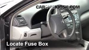 interior fuse box location 2007 2011 toyota camry 2010 toyota locate interior fuse box and remove cover