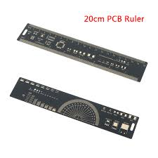 Us 2 88 31 Off 20cm Pcb Ruler Electronic Engineers Measuring Tool Reference Chip Ic Smd Diode Transistor Package Electronic Stock Protractors In