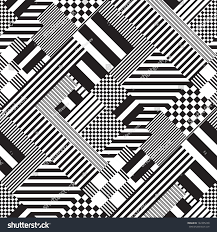 Seamless Black White Lines Pattern Abstract Stock Vector Royalty