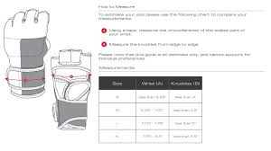 Ufc Glove Size Chart Ufc Fight Gloves Size Chart Images Gloves And Descriptions