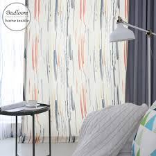 Modern design color doodle curtains for bedroom colorful curtains ...
