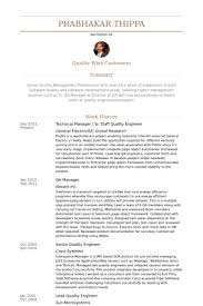 Quality Engineering Resume Quality Engineer Resume Samples Visualcv
