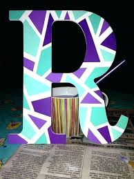 Wooden Letters Design Wooden Letter Designs Hand Painted Wooden Letter J By On Wooden Post
