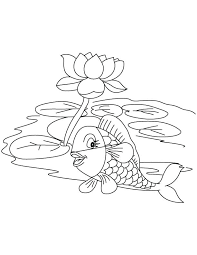 coloring pages lake coloring pages lotus fish with in page flower mandala printable swan lake coloring