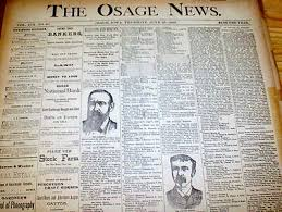 6 1888 89 newspapers osage news iowa harrison v cleveland presidential campaign