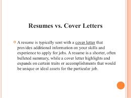 Resumes vs.