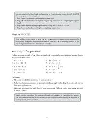 solve by completing the square worksheet with answers 2701876