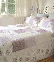 Queen Bed Country Lavender Shabby Rag & Roses Chic Patchwork Quilt ... & Queen Bed Country Lavender Shabby Rag & Roses Chic Patchwork Quilt  Bedspread Set. King Single ... Adamdwight.com
