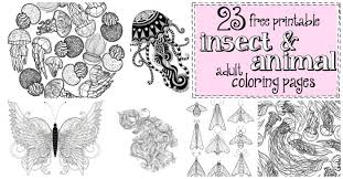 Find all the coloring pages you want organized by topic and lots of other kids crafts and kids activities at allkidsnetwork.com. 23 Free Printable Insect Animal Adult Coloring Pages Nerdy Mamma