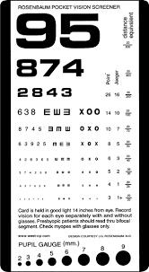 Rosenbaum Pocket Eye Chart