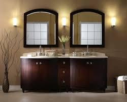 modern bathroom vanity ideas. Arched Mirror Frame Design Also Pretty Wall Sconces Feat Modern Bathroom Vanity With Dark Paint Idea Ideas 5