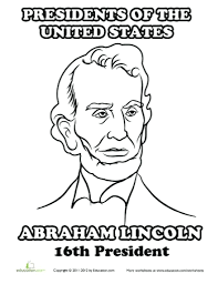 Small Picture The Incredible As Well Attractive Abraham Lincoln Coloring Page