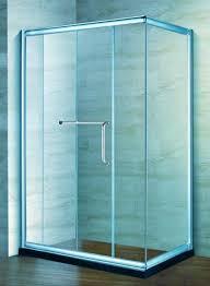 rectangle framed sliding glass shower doors