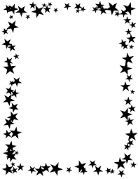Border Black And White Free Printable Star Border Black And White High Contrast Stars