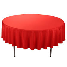 e tex 70 inch round polyester tablecloth red b072n2nfpg