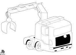 Vrachtwagen Met Kraan Kleurplaat Gratis Kleurplaten Printen