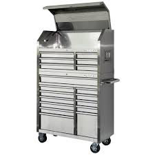 husky tool box limited edition. husky 40 in. 18-drawer stainless steel tool chest and rolling cabinet set box limited edition
