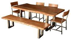live edge single slab modern rustic dining table chair set w bench you ve e to expect the best in quality and style from sierra livin