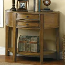 half moon console table. Half Moon Table With Drawers Furniture Oak Console Two Drawer And Shelf . -