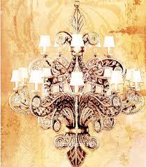 hand painting hand painted flower oil painting chandelier pictures