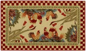 Round Rooster Kitchen Rugs Country Kitchen Rooster Rugs Cliff Kitchen