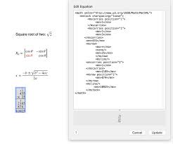 this apple support doent gives more details of what latex and mathml commands are curly supported
