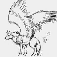white wolf with wings drawing. Nedew Anime Wolf Drawing Cool Drawings Animal Sketches Tips In White With Wings
