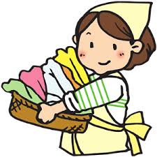 laundry basket clipart. Woman With Laundry Basket Clipart R
