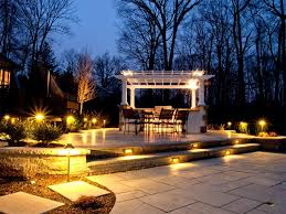 landscape lighting pergola
