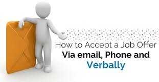 accept a job offer how to accept a job offer via email phone and verbally wisestep