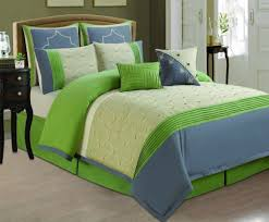 lime green bedding sets blue and grey comforter set