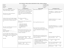 What Is Behavior Analysis Examples Lovely Functional Behavior Analysis Template Gallery Entry Level 19