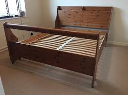 Solid Wooden King Size Bed King Size Bed Frame Gumtree On Ikea Bed ...