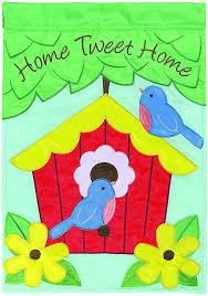 com carson home accents flagtrends double applique garden flag home tweet home garden outdoor