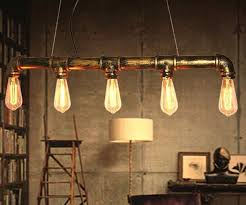 Loft Vintage Edison Pendant Lights Personalized Bar Lighting Industrial  Vintage Water Pipe Pendant Lamp E27 Black/Antique Lamps-in Pendant Lights  from ...