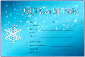 Snow Templates Ice And Snow Gift Certificate Template
