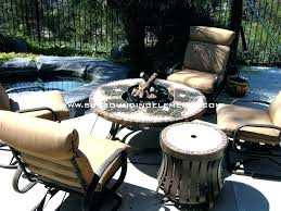 patio furniture fire pit compromise table with built in set propane gas outdoor garden patio